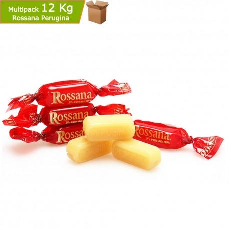 Multipack 12 Kg Perugina Caramelle Rossana in Busta 4 Buste da Kg 3 cad