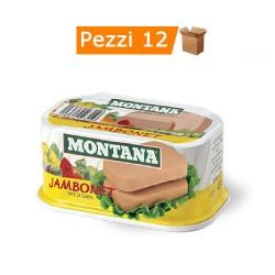 Multipack da 12 Confezioni di Montana Jambonet Pata' di Carne Bovina e Suina da 200 Grammi Ciascuna
