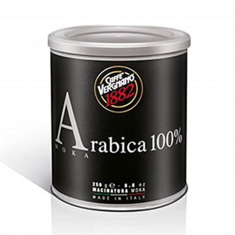 Caffe' Vergnano 1882 Arabica 100% Made In Italy Lattina Di  Caffe'  250 Gr  Macinato Per Moka Intensita' 3