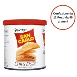 San Carlo Chips Dore' Gusto Classico Confezione da 12 Pezzi da 45 Grammi