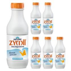 Parmalat Latte Zymil UHT Buono Digeribile 1% di Grassi 6 Bottiglie da Litri 1