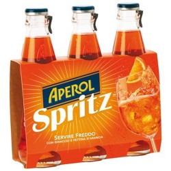 Aperol Spritz Aperitivo poco Alcolico in Confezione da 3 Bottiglie di Vetro da 175 Millilitri