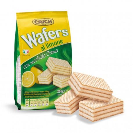 CRICH Wafers Gusto Limone Confezione In Sacchetto da 250 Grammi