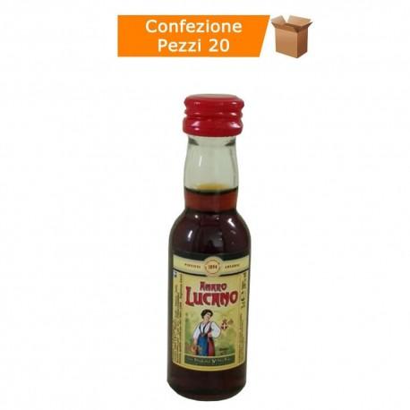 Multipack da 20 Confezioni di Amaro Lucano Mignon da 5 Centilitri Ciascuna