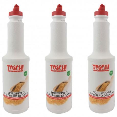Multipack da 3 Sciroppi Di Zucchero di Canna Liquidi Toschi Confezioni da 1,3 kg Ciascuna