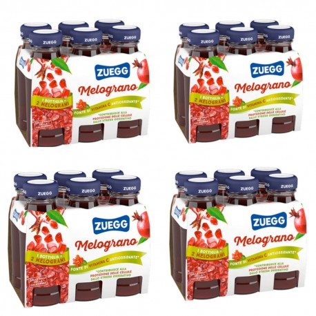 Zuegg Juice with Pomegranate Pack of 24 Glass Bottles of 125 Milliliters