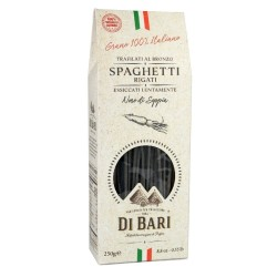 Tarall'Oro Spaghetti Al Nero Di Seppia Pasta Trafilata Al Bronzo In Confezione Da 250 Grammi