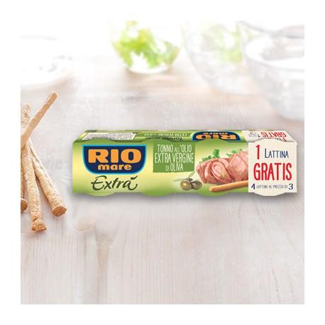 Rio Mare Tonno Extra in Olio Extra Vergine d'Oliva Grammi 80X3+1