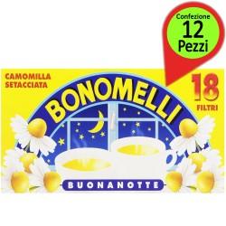 Bonomelli Camomilla Setacciata Confezione 12 pacchi da 18 Flitri Ciascuno