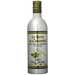 Le Terre di Colombo - Olio extravergine d'oliva 100% italiano, bottiglia in alluminio, 0,75 litri