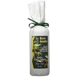 Le Terre di Colombo - Olio extravergine d'oliva 100% italiano, bottiglia bianca, 0,75 litri