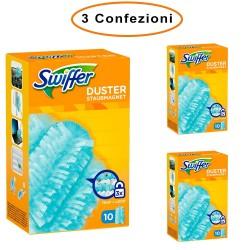 Swiffer Duster Ricarica per Piumino Cattura Polvere 3 Confezioni da 10 Piumini