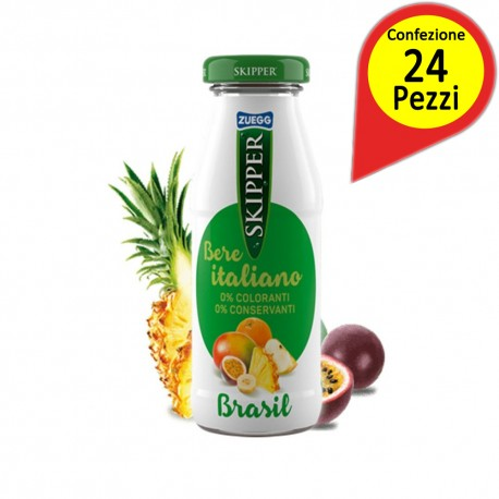 Skipper Brasil Tropical Fruit Juice 24 Bottle Glass 200 Millilieters Bottles Each
