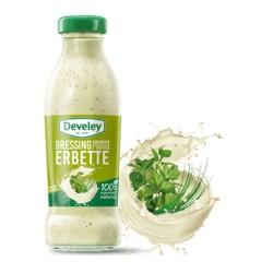 Develey Salsa Dressing Erbette In Confezione In Barattolo Di Vetro Da 230 ml