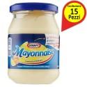 Maionese Kraft Mayonnaise Cremosa e Delicata Confezione da 15 Vasi da 185 Milliliters Ciascuno