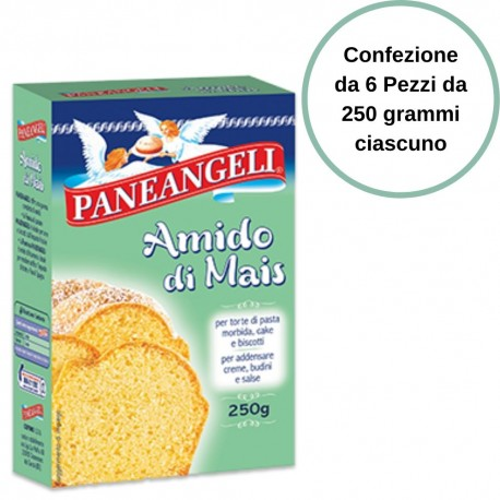 Paneangeli Corn Starch for Soft Sweets 6 packs of 250 grams each