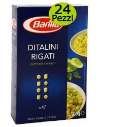 Pasta Barilla Ditalini Rigati n 47 Pezzi 24 Grammi 500 cadauna