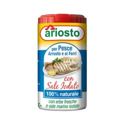 Ariosto for Roasted Fish and Iron with Iodized Salt 80 Grams