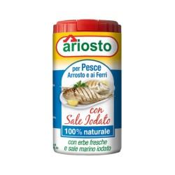 Ariosto insaporitore per pesce arrosto ai ferri con sale iodato da 80 grammi