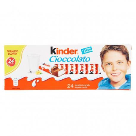 FERRERO KINDER Barrette di Cioccolato al Latte Confezione Da 24 Barrette 300 Grammi