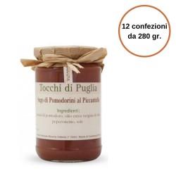 Tocchi di Puglia Sugo di Pomodorini al Piccantello in Vaso  Multipack 12 Confezioni da 280 gr.