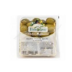 EUROLIVE Delizie Mediterranee Olive Verdi Maxi In Salamoia Confezione Da 400 Grammi