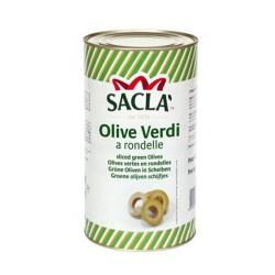 SACLA' Olive Verdi A ROndelle Confezione In Latta Da 2,2 Chilogrammi