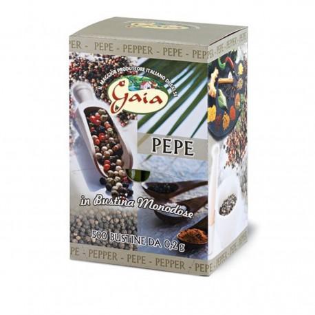 GAIA Pepe Nero Confezione Da 500 Bustine 0,2 Grammi Ciascuna