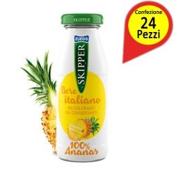 Skipper Ananas Confezione da 24 Bottiglie di Vetro da 200 Milliliters