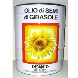 DESANTIS Of Sunflower Seed Oil In Tin Box For 25 Liters