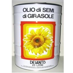 DESANTIS Of Sunflower Seed Oil In Tin Box For 25 Liters