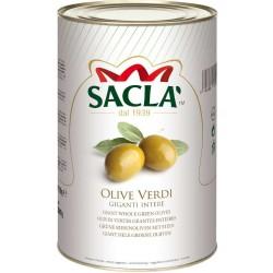 Sacla' Olive Verdi Snocciolate Confezione In Latta Da 2,2 Chilogrammi