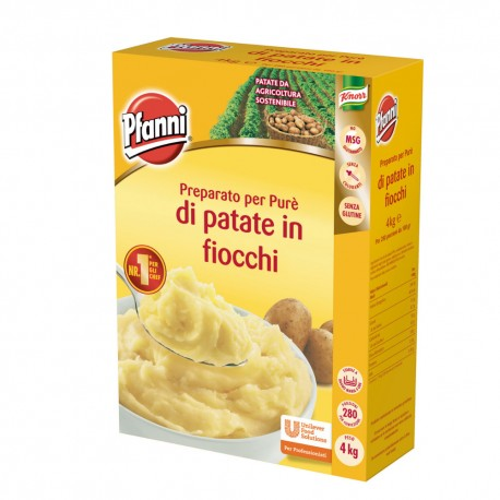 Pfanni Prepared for Pure 'Potato flakes in 4 kg Packaging