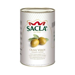 Sacla 'Olive Green Giant Whole Tin Packaging 2.75 kg