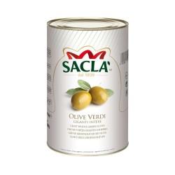 Sacla' Olive Verdi Giganti Intere Confezione di Latta 2,75 kg