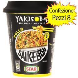 Star Saikebon Yakisoba Confezione da 8 Gourmet Orientale al Pollo 93 gr Cadauno