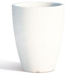 Vaso Adone Round White Monacis diametro cm 30 altezza cm 38