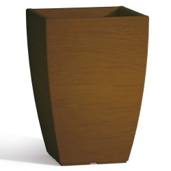Vaso Adone Square in Resina Quadrato Marrone H40 27X27 cm