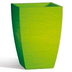 Vaso Adone Square in Resina Quadrato Verde H40 27X27 cm