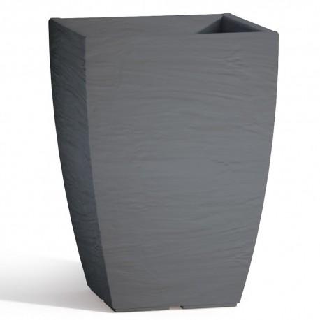 Vaso Adone Square in Resina Quadrato Grigio H40 27X27 cm