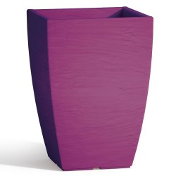 Vaso Adone Square in Resina Quadrato Purple H40 27X27 cm