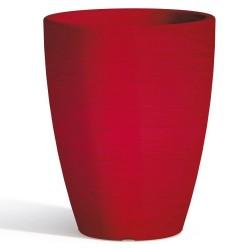 Vaso Adone Round Red Monacis diametro cm 30 altezza cm 38