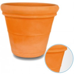 Vase Double Edge Smooth Round Diameter 70 Centimeters Color Terracotta VT010