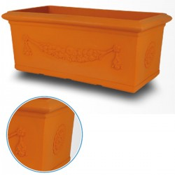 Planter Festoon 80 Centimeters VT036 Color Terracotta
