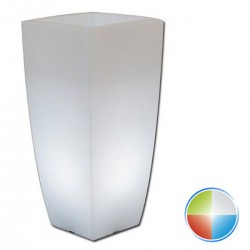 VASO MONACIS BRIGHT STILO SQUARE LED MULTICOLOR CM 33X33 H CM 70