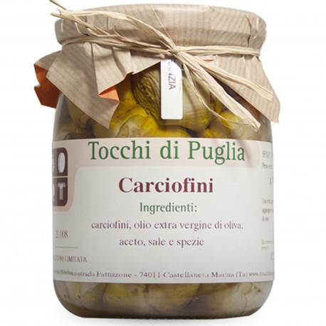 Artichokes in Extra Virgin Olive Oil in Jar of 500 grams by the organic farm Tocchi di Puglia