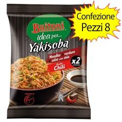 Buitoni Yakisoba Gusto Chili Confezione da 8 Pacchi da 120 g Ciascuno