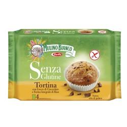 Mulino Bianco Tortina Senza Glutine con Gocce di Cioccolato Confezione da 4 Tortine 140 Grammi
