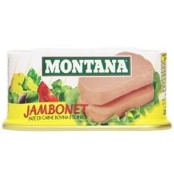 Montana Jambonet Patè di Carne Bovina e Suina Confezione da 200 Grammi