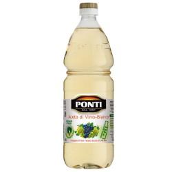 Aceto di Vino Classico Bianco Ponti Acidità 6% Multipack da 12 Bottiglie da 1 Litro